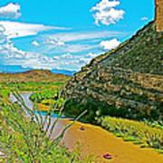 Rafting In Santa Elena Canyon In Big Bend National Park-texas Poster
