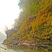 Rafting Near Shore In The Seti River-nepal   Poster