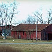 Ragged Red Shed I Poster