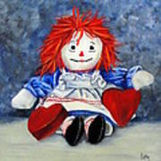 Raggedy Ann With Hearts Poster