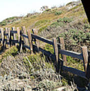 Rail Fence Black Poster by Barbara Snyder