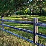 Rail Fence Scenic II Poster
