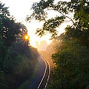 Rail Road Sunrise Poster