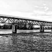 Railroad Bridge Over The Schuylkill River In Norristown Poster