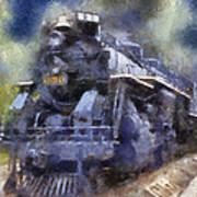 Railroad Locomotive 639 Type 2 8 2 Photo Art Poster