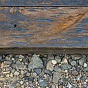Railroad Track Closeup Background Poster