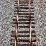 Railroad Track With Gravel Bed Poster