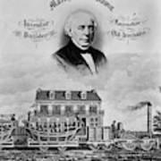 Railroad Train, 1832 Poster