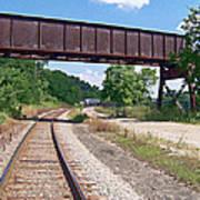 Railroad Train Tracks And Trestle Poster