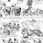Railroading Cartoon, 1873 Poster