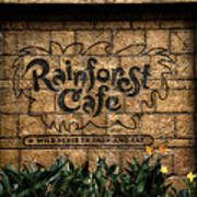 Rain Forest Cafe Signage Downtown Disneyland 01 Poster