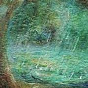 Rain On The Pond Poster