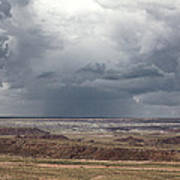 Approaching Storm The Painted Desert Arizona Poster