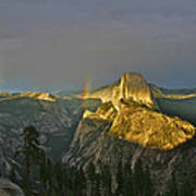 Rainbow And Half Dome 3 Poster
