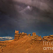 Rainbow And Sandstone Formations Fantasy Canyon Utah Poster