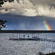 Rainbow At Burt Lake Poster