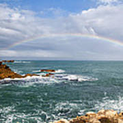 Rainbow Over Cape Dombey Obelisk Poster