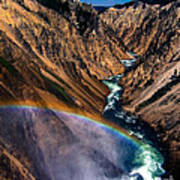 Rainbow At The Grand Canyon Yellowstone National Park Poster