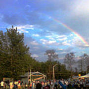 Rainbow At Wind Gap Park Poster