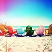 Rainbow Beach Photography Light Leaks2 Poster