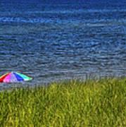 Rainbow Beach Umbrella Poster