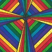 Rainbow Cross Poster