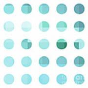 Rainbow Dots Aqua  Poster