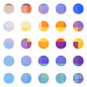 Rainbow Dots  Poster