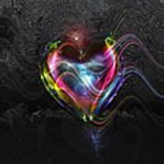 Rainbow Heart Poster by Linda Sannuti