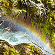 Rainbow In Avalanche Creek Canyon In Glacier National Park-montana Poster