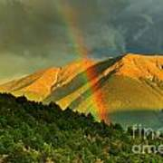 Rainbow In The Mountains Poster