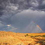 Rainbow On The Plains Poster