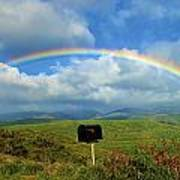 Rainbow Over A Mailbox Poster by Kicka Witte