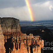 Rainbow Over  Bryce Canyon Poster
