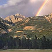 Rainbow Over Colin Range Jasper Np Poster