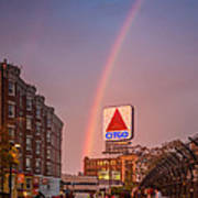 Rainbow Over Fenway Poster by Paul Treseler