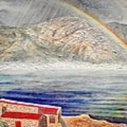 Rainbow Over Hermanus Poster