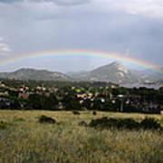 Rainbow Over Lake Estes Poster