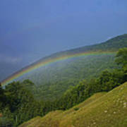 rainbow over Maggie valley Poster