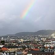 Rainbow Over Oslo Poster