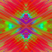 Rainbow Passion Abstract 1 Poster