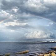 Rainbow Seascape Poster