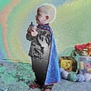 Rainbow Sherbet Little Ninja Boy Poster