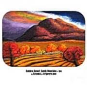 Rainbow Sunset Sandia Mtns Poster