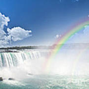Rainbows At Niagara Falls Poster