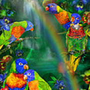 Rainbows In Paradise Poster