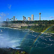 Rainbows Over Niagara Poster