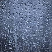 Raindrops On Window I Poster