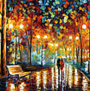 Rain's Rustle 2 - Palette Knife Oil Painting On Canvas By Leonid Afremov Poster
