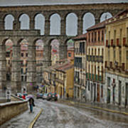 Rainy Afternoon In Segovia Poster